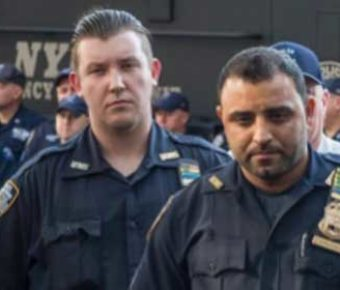 Sergeant Hameed Armani and Officer Peter Cybulski. Hero police officers drove suspect bomb away from public.