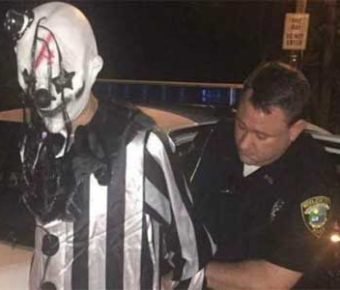 A nefarious clown has been arrested after a string of clown sightings.