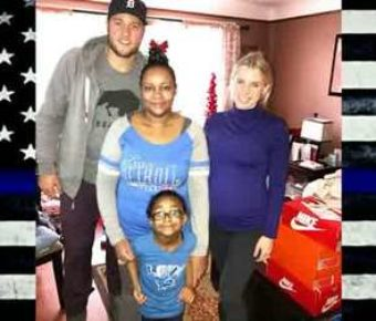 matthew stafford helps family