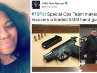 NYPD Officer Gwendolyn Bishop is in hot-water over a tweet with a Black Lives Matter hashtag.