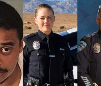 "John Felix (left) murdered Officer Lesley Zerebny (mid,) and Officer Jose ""Gil"" Vega (right.)"