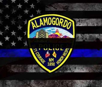 An Alamogordo police officer was murdered.
