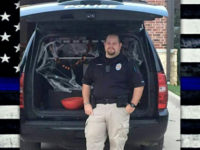 Officer Stephen Magnes with the Calvert Police Department was ambushed on Sunday.
