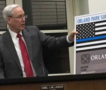 Orland Park's new vehicle stickers show support for local law enforcement.