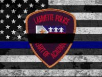 A Lafayette police officer was murdered Sunday night.